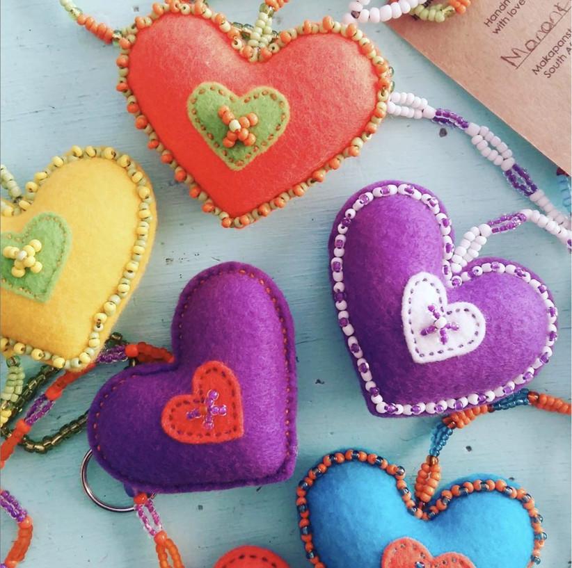 Charity Wedding Favours - beaded trinkets