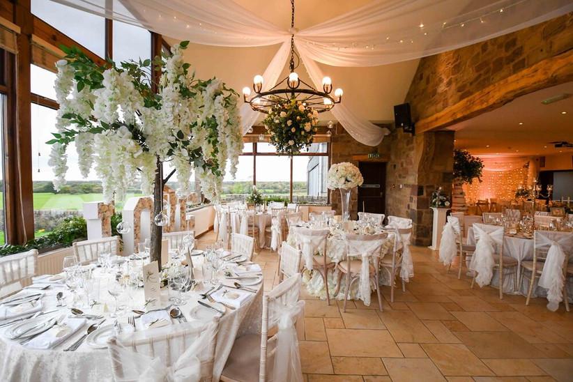 Wedding reception at Lancashire wedding venue Beeston Manor