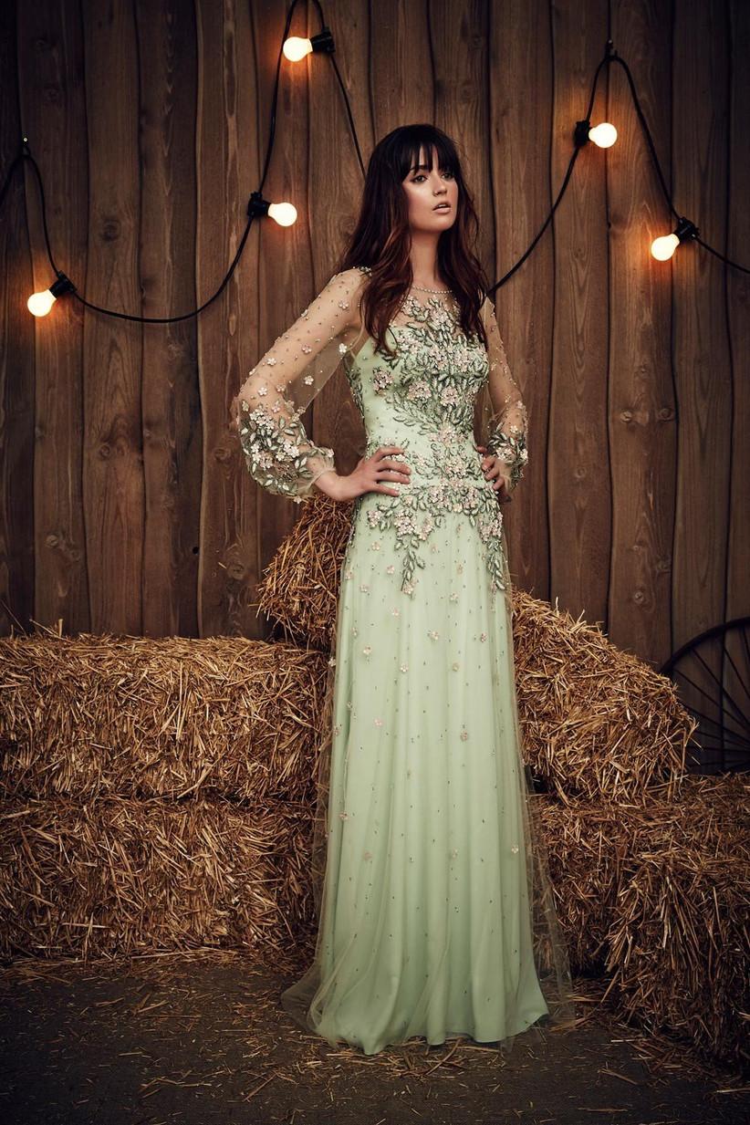 light-green-fairytale-wedding-dress