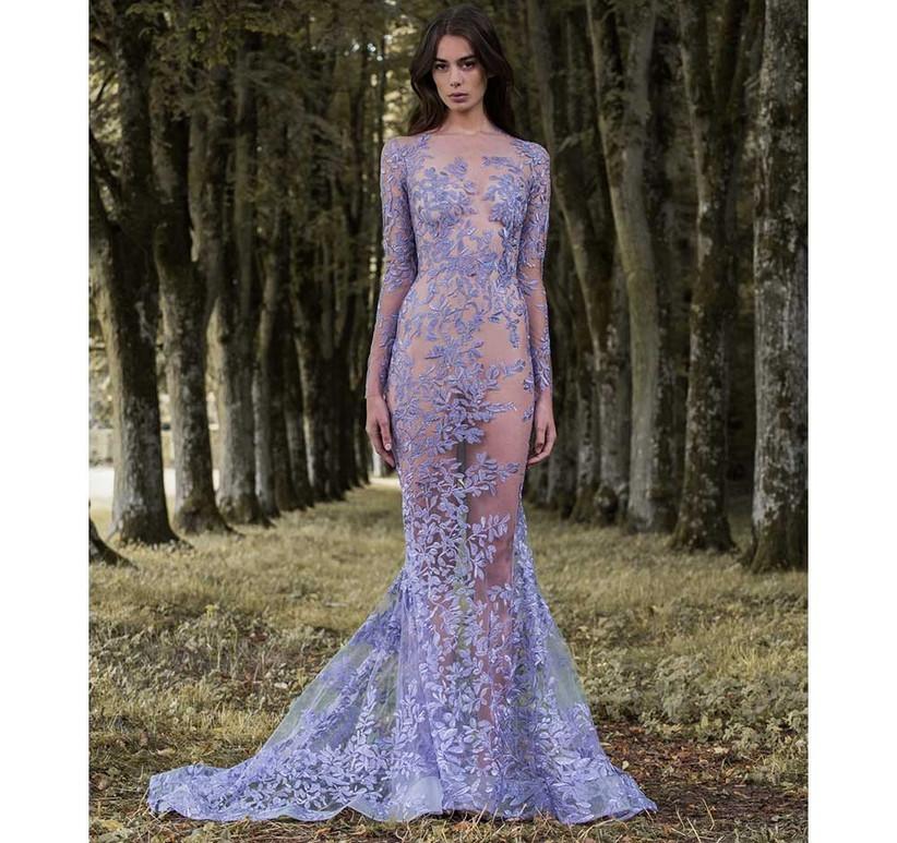 purple-lace-applique-sheer-dress
