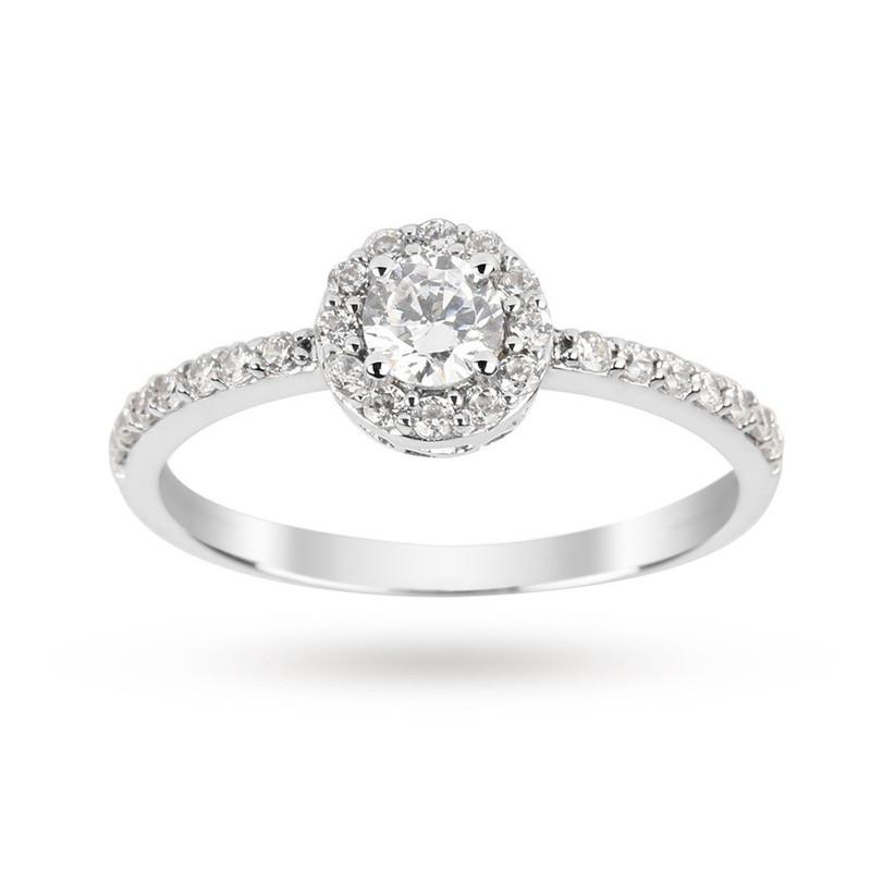 Budget halo engagement ring