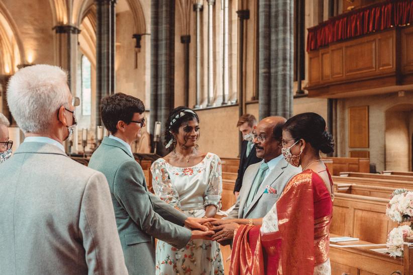 Nirosha and Dafydd's wedding ceremony