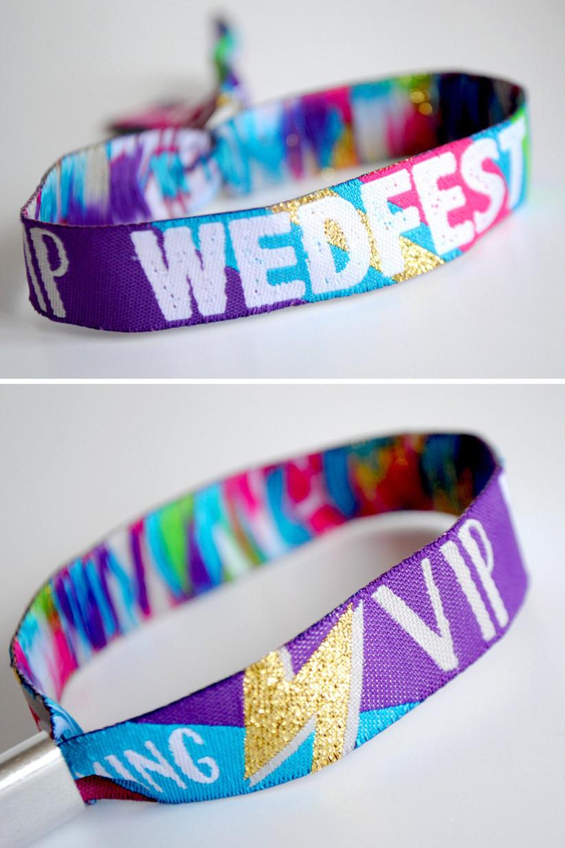 Wedding festival wrist bands