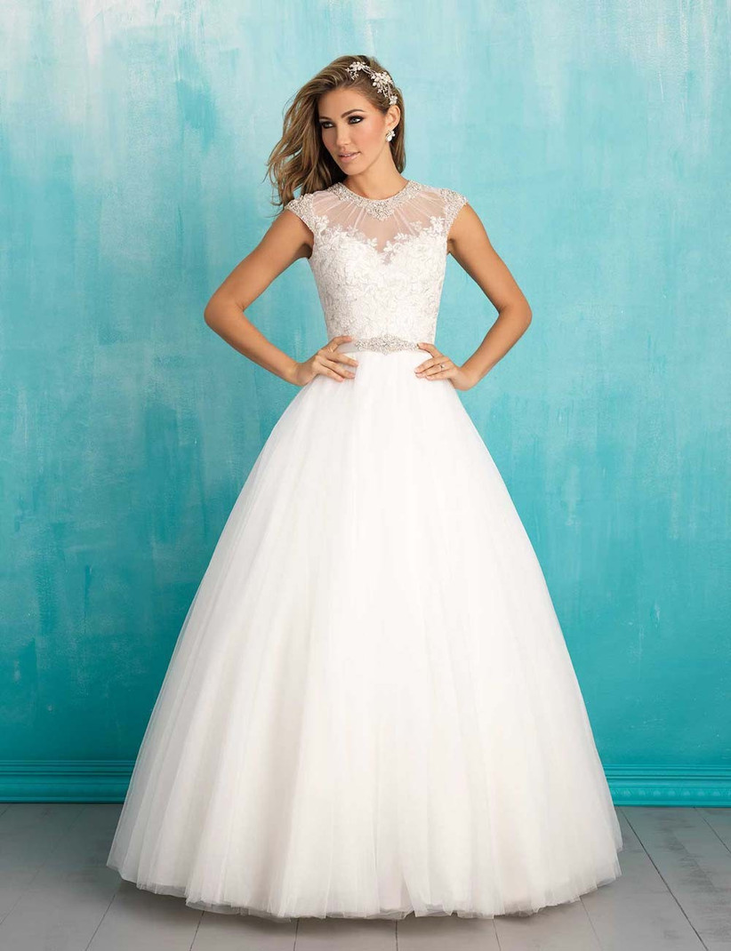 ball-gown-with-a-lace-bodice-and-sheer-illusion-neckline