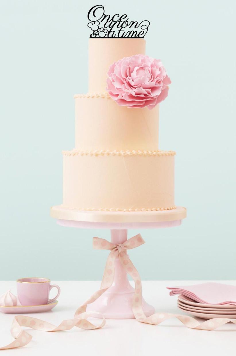 plain-wedding-cake-with-mickey-and-minnie-disney-cake-topper