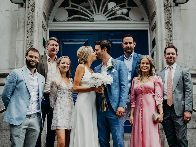Real Covid Wedding: Lily and Ben, Chelsea Old Town Hall and The River Café