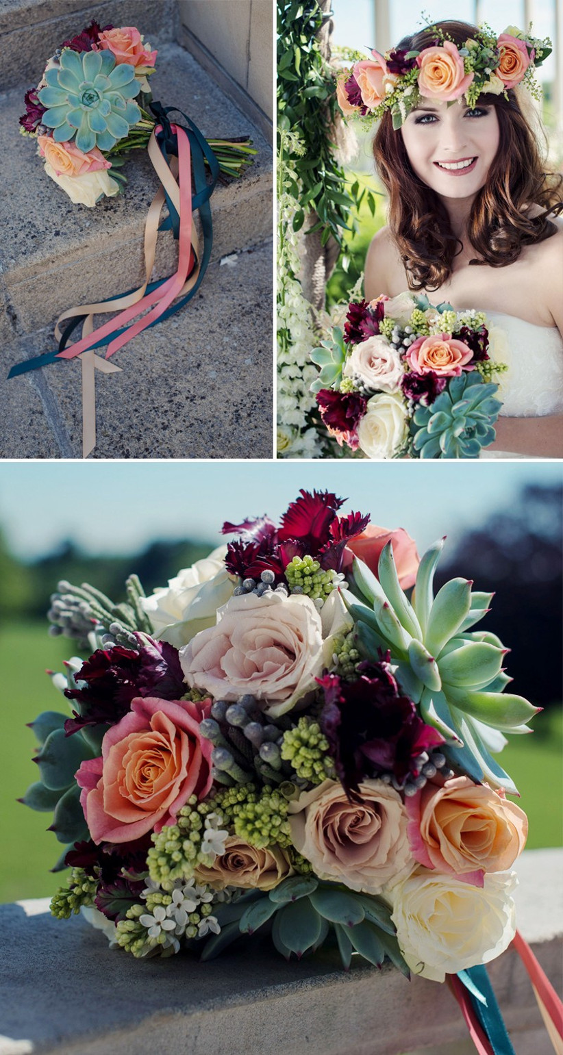 Succulent Bouquets Your Need To Know Guide Hitched Co Uk
