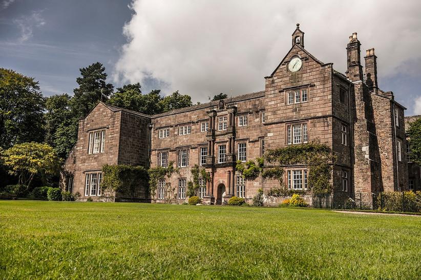 Exterior of Lancashire wedding venue Browsholme Hall