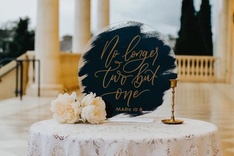 bible wedding sign