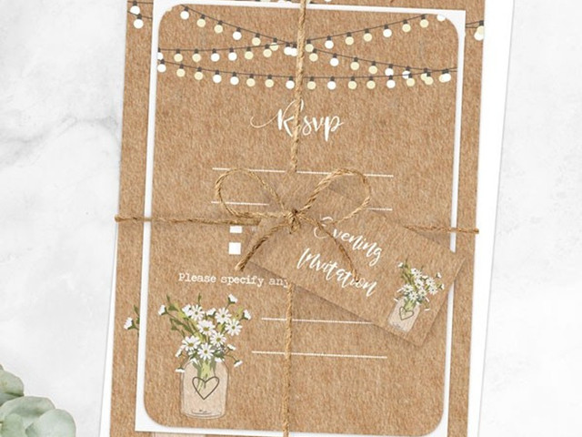 Rustic Wedding Invitations: 13 Perfect Shabby Chic Ideas