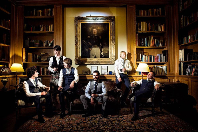 groomsmen-in-the-library-at-hodsock-priory
