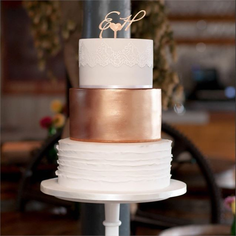 lace-patterned-cake-with-rose-gold-tier