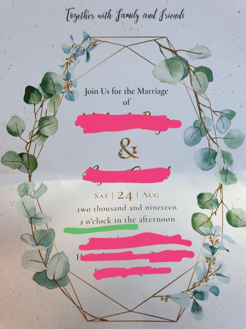 invitation blunder