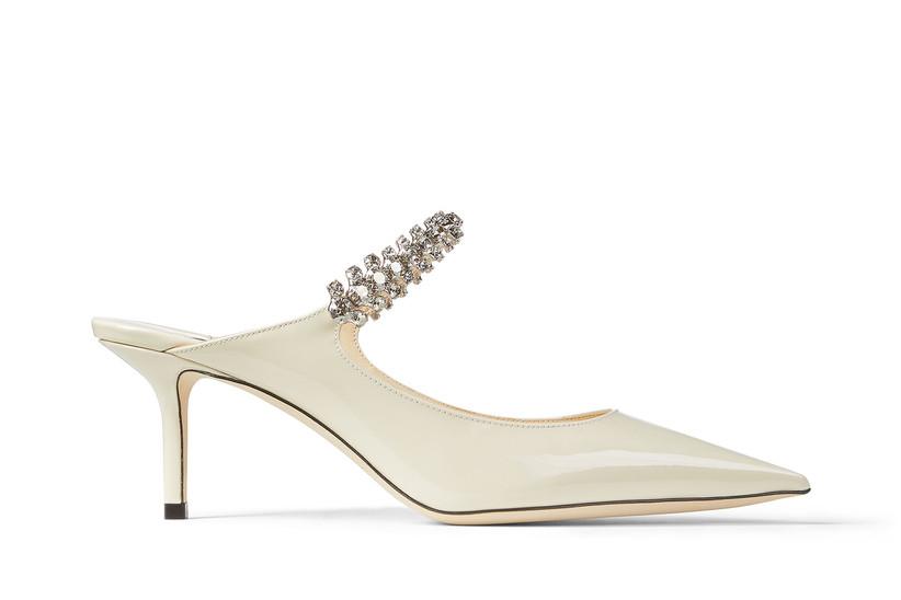 Rhinestone strap bridal heel