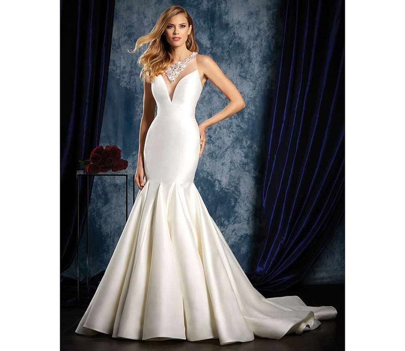 sexy-satin-wedding-dress-by-alfred-angelo