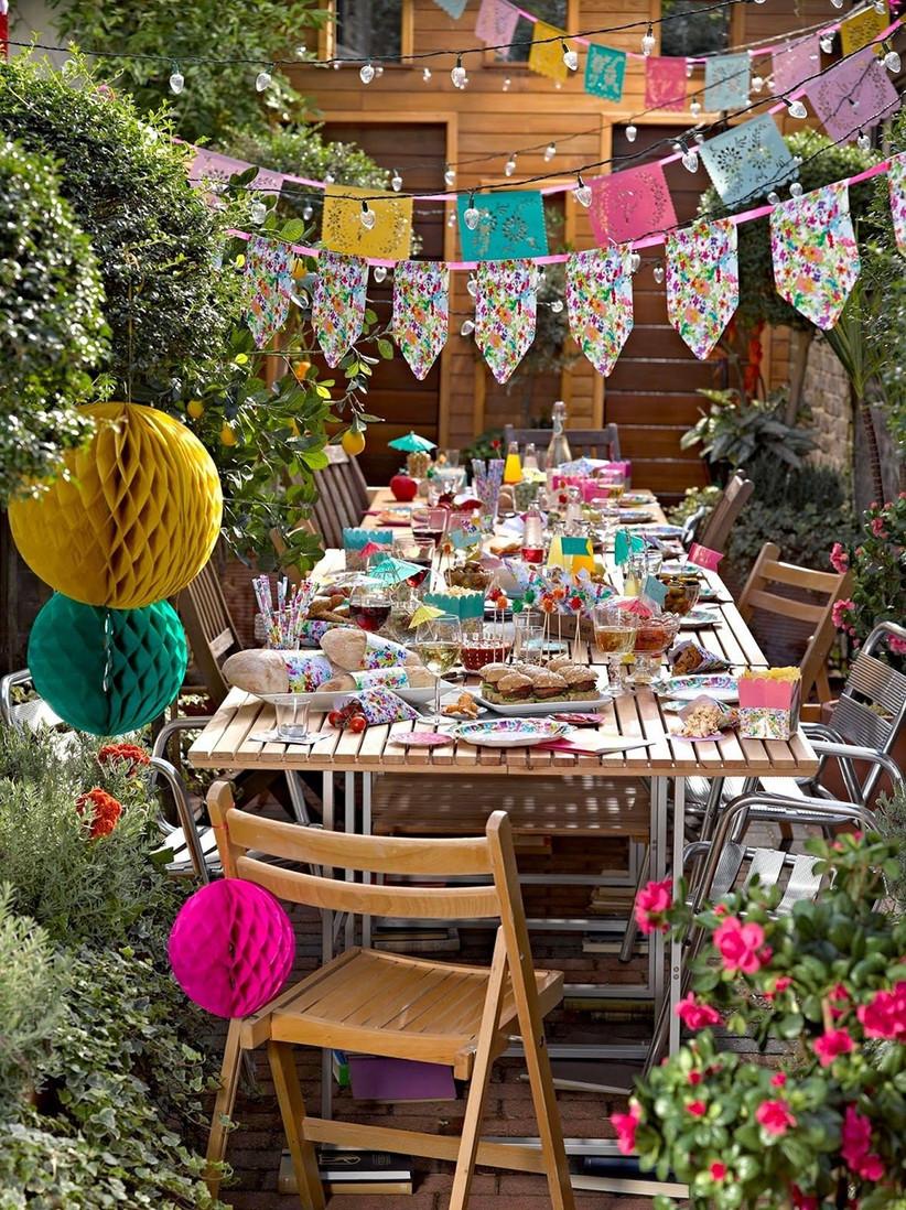 Summer BBQ garden party