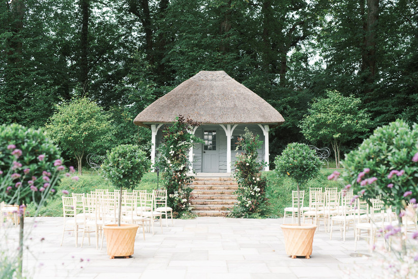 Outdoor wedding set-up