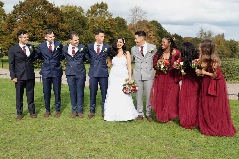 Jayson and Daniella's wedding party