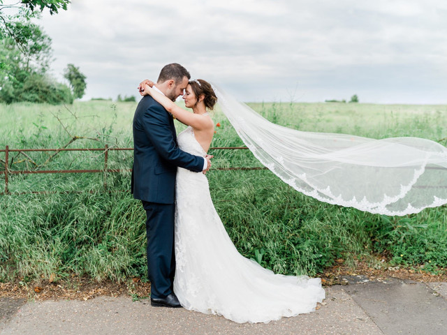 An Intimate, Spring Vineyard Wedding in Essex with a Justin Alexander Dress