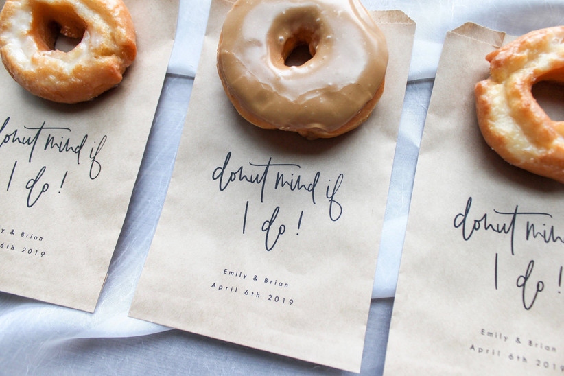 16. wedding thank you gifts Donut favor bag __ Donut mind if I do wedding favor bag, Party favor bag, Cookie bag, Thank you bag, Thank you favor, Donut wall bag Etsy
