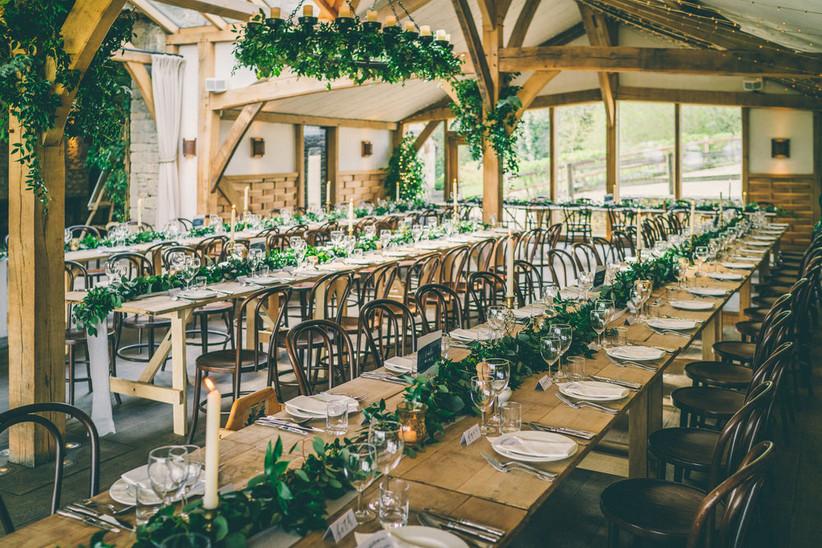 Outdoor wedding venue Cripps Barn