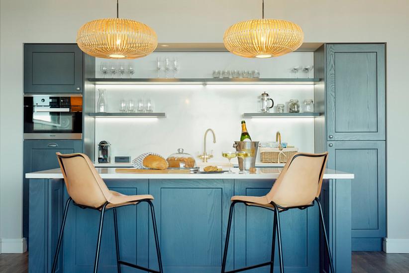 Carbis Bay beach lodge kitchen
