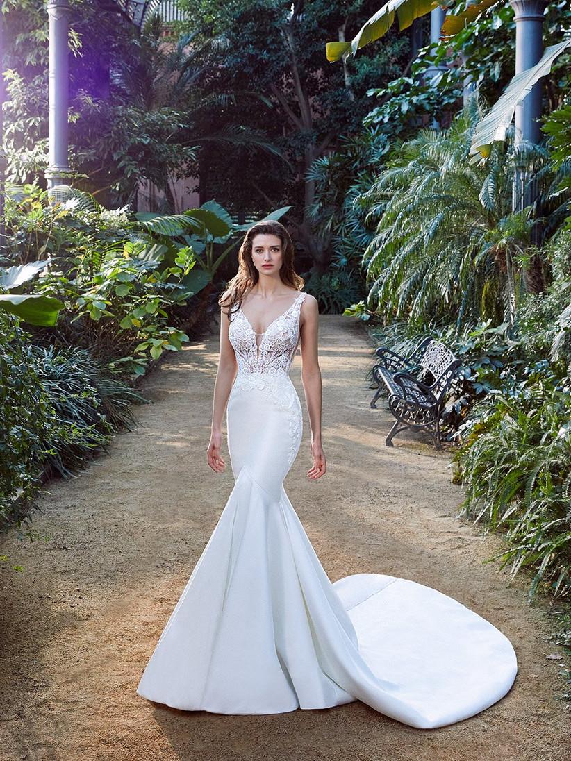 Enzoani Pascale mermaid wedding dress with lace bodice