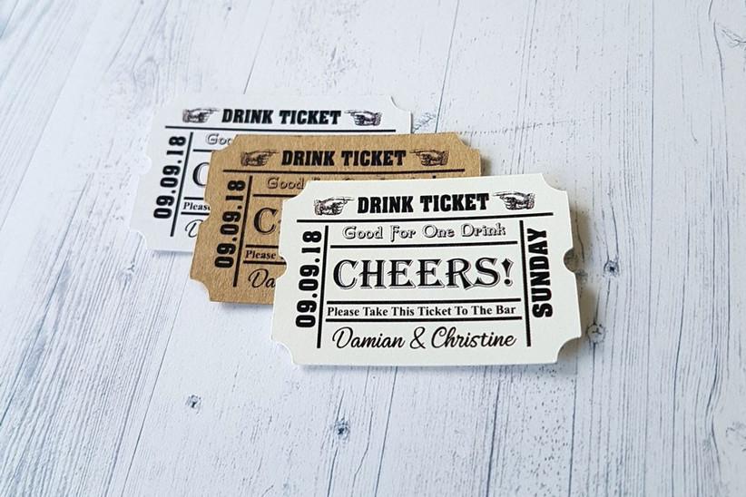 Drink wedding vouchers