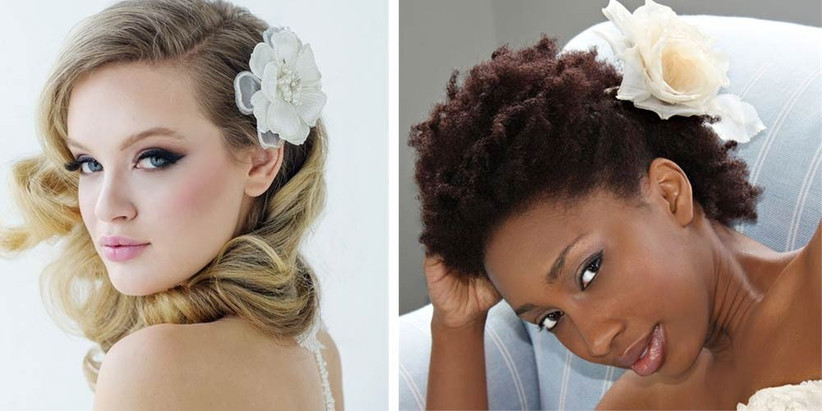 a-side-swept-hairstyle-accompanied-by-a-flower-hair-slide-is-a-fuss-free-yet-pretty-way-to-do-wedding-hair-flowers-its-also-a-very-versatile-hairstyle-for-brides-2