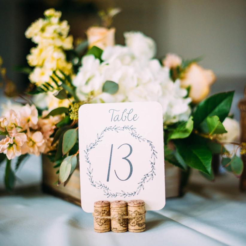 Cork wedding table number