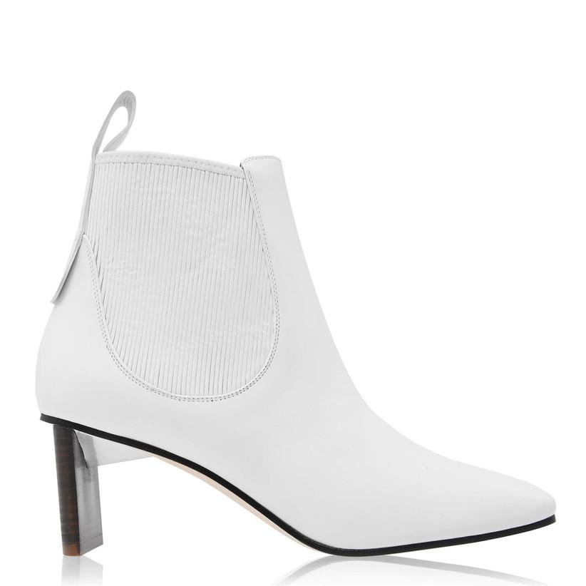 Classic white wedding chelsea boot