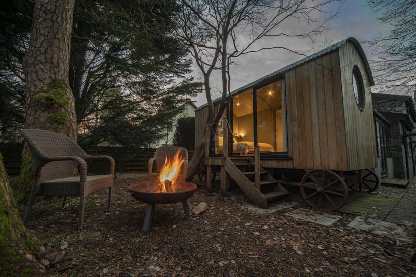 Shepherd's Hut hotel room
