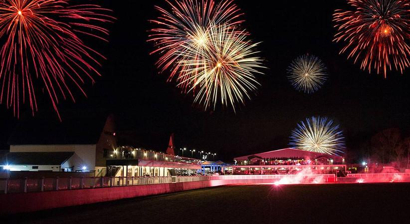 Firework display at a wedding venue