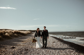 Real Covid Wedding: Camilla and Angus, Findhorn Beach and The Kale Yard