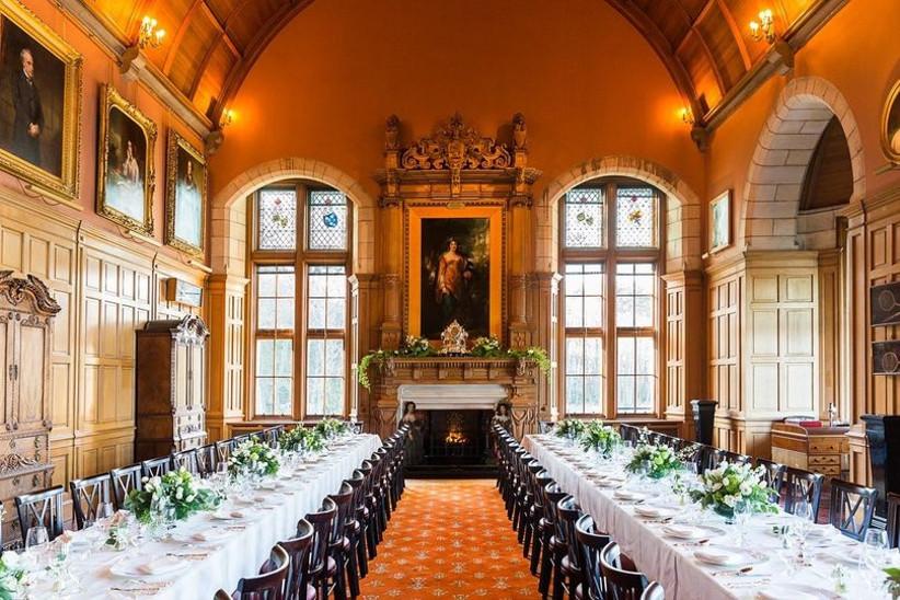 Grand castle dining area