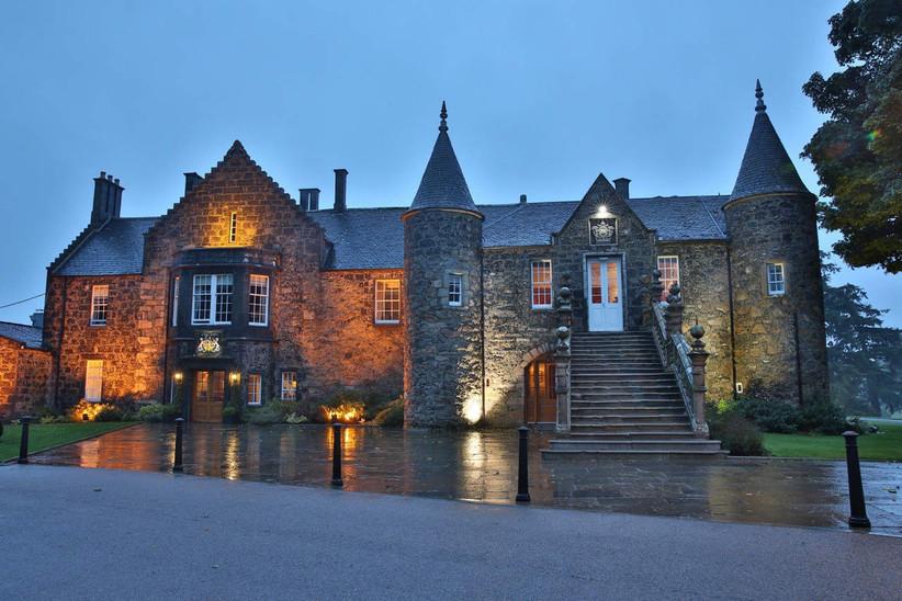 Exterior of Aberdeen wedding venue Meldrum House
