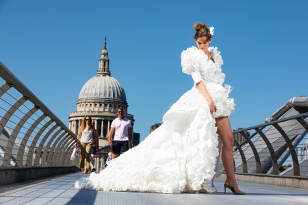 Goodbye Face Masks, Hello Wedding Dress! The UK's First Face Mask Wedding Dress Revealed