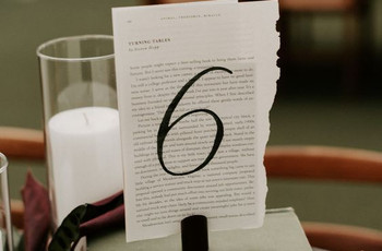 Wedding Table Numbers: 47 Unique Ideas