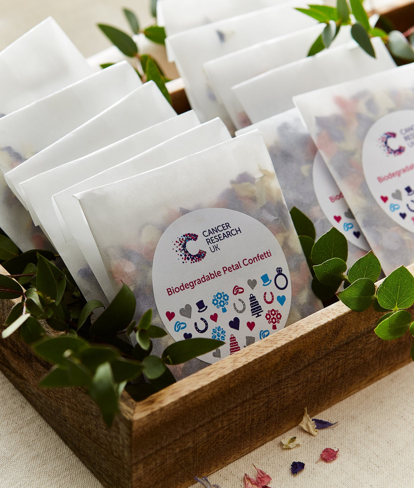 Charity Wedding Favours - biodegradable petals