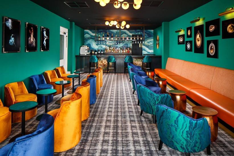 Art deco style bar in a wedding venue