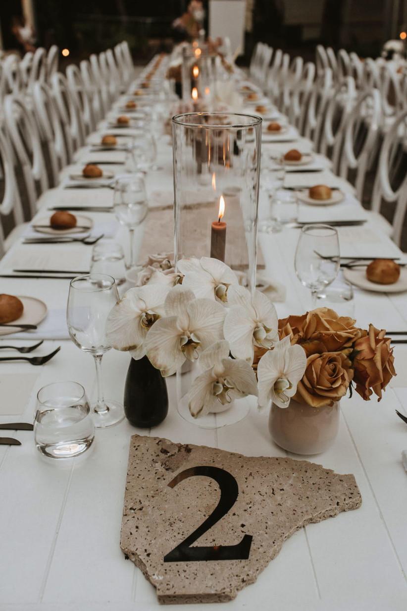 Terrazzo wedding table number