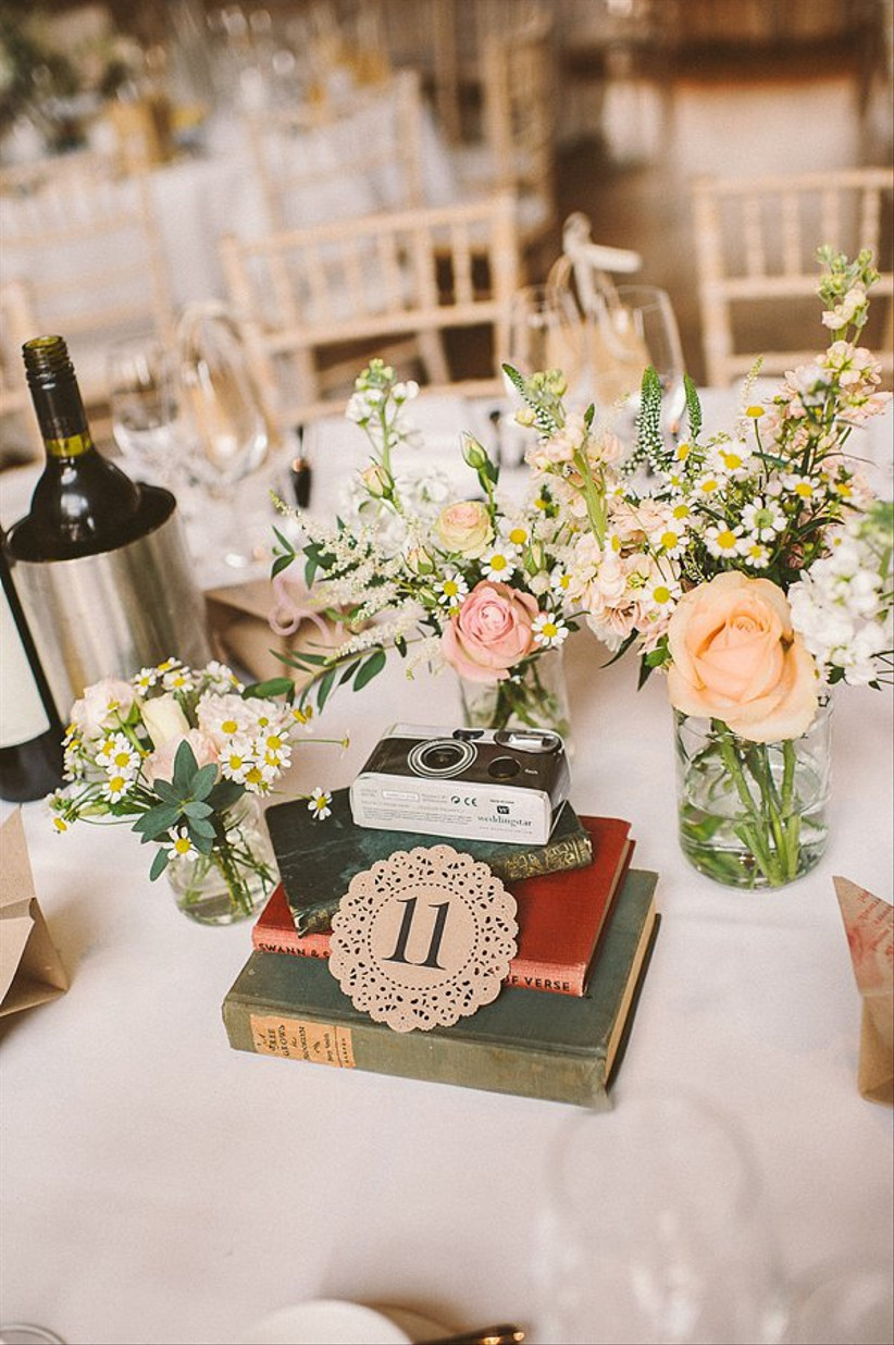 Lace coaster wedding table number