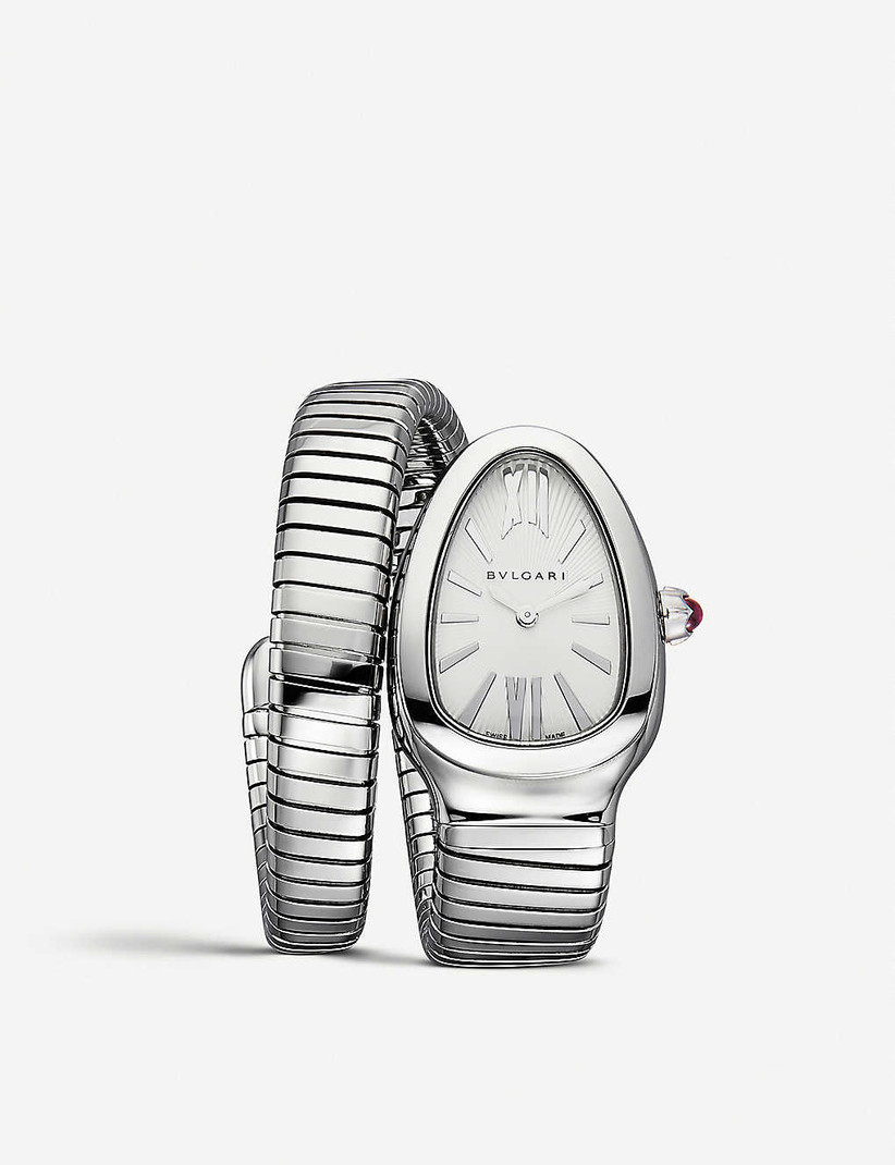 Silver engagement watch