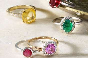 The 35 Best Coloured Engagement Rings