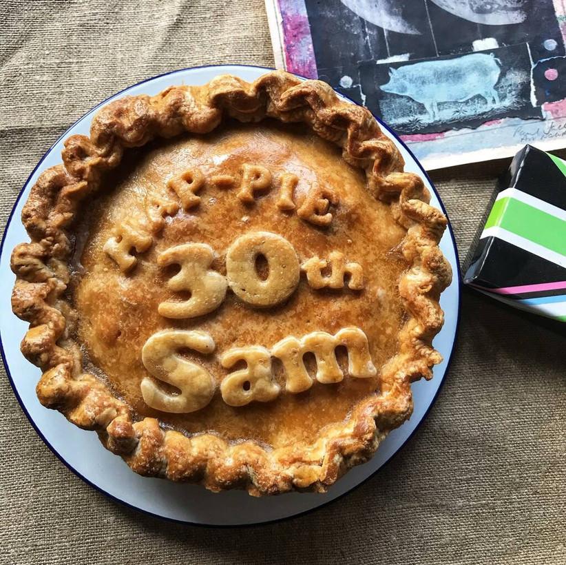 Large personalised pork pie