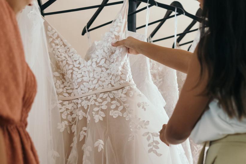 Woman shopping for a wedding dress