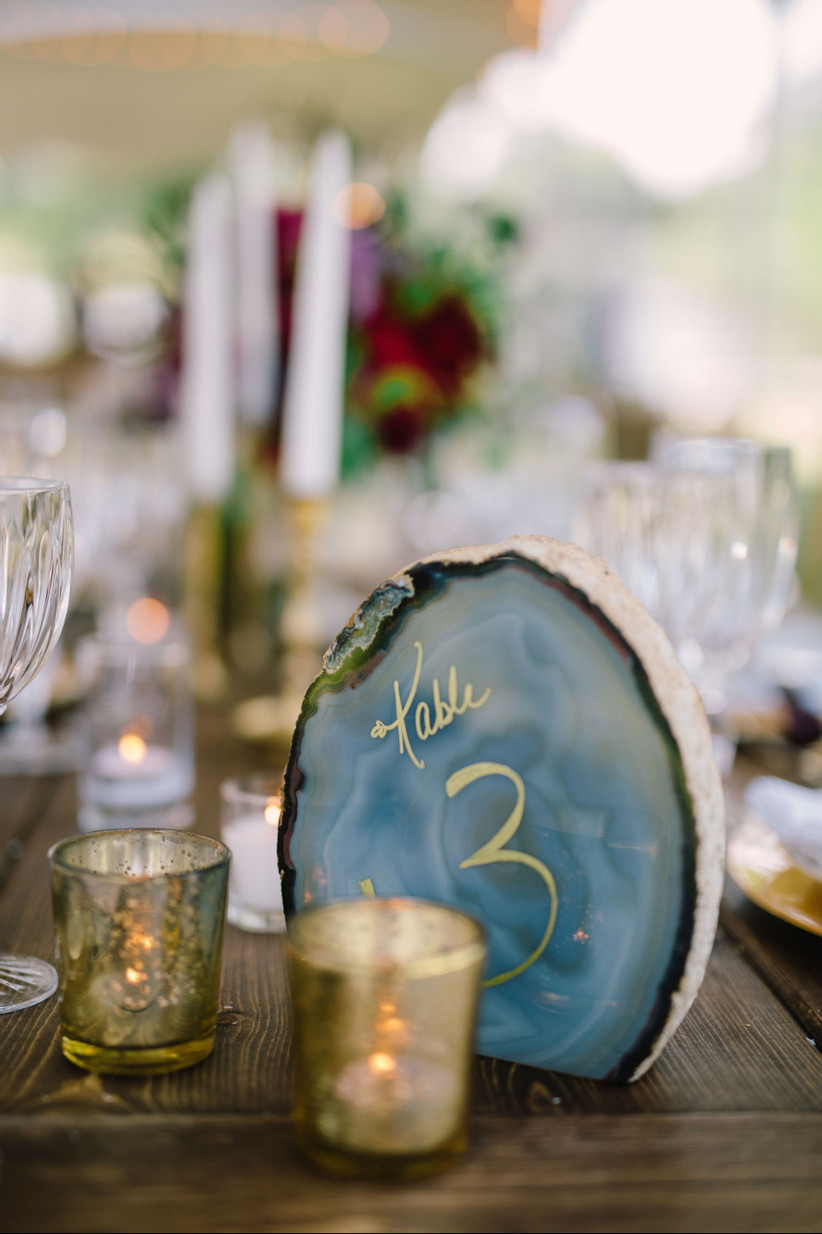 Crystal wedding table number