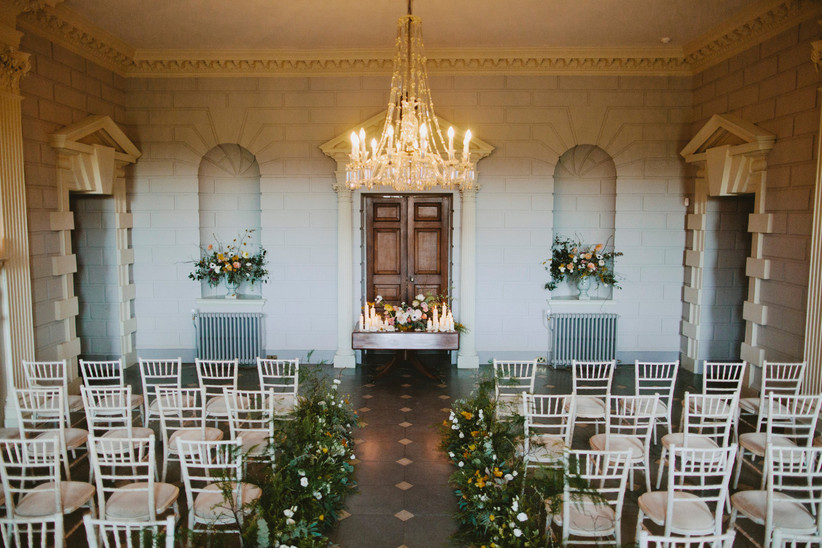 Country house wedding ceremony room