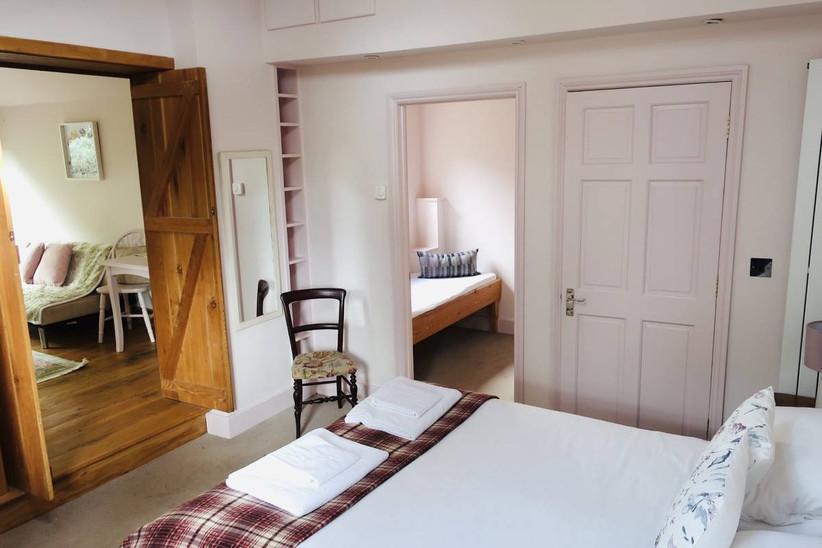 Fresh, white bedroom