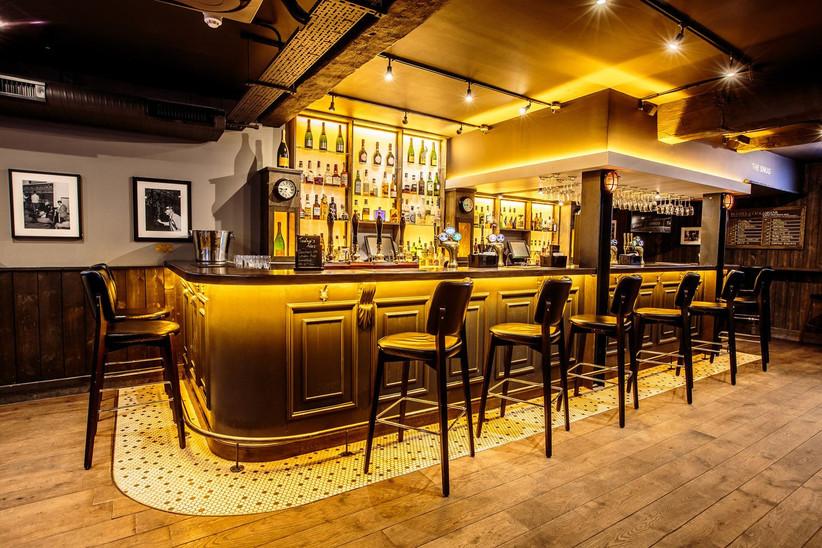 The bar at No 10 at night